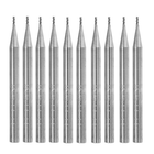 Bon prix Drillpro 10pcs 1mm HRC58 3 Flutes End Mill Cutter Tungsten Carbide CNC Milling Cutter Tool for Aluminum