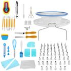 Bon prix 118 PCS Cake Decorating Tools Set DIY Cake Piping Tips Turntable Rotating Cake Stand Pastry Nozzle Baking Tools