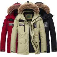 Winter Thick Warm Mid-long Length White Duck Down Parka