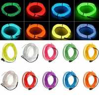 5M 10 colors 3V Flexible Neon EL Wire Light Dance Party Decor Light