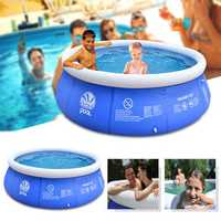 Outdoor Inflatable Swimming Paddling Pool Yard Garden Family Kids Play