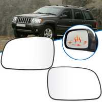 Car Left/Right Anti-fog Heated Rearview Mirror Glass for Jeep Grand Cherokee 1999-2004