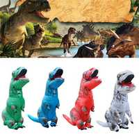 Inflatable Dinosaur Clothing Halloween Party Costume Air Blowing Up For Adult Funny Toys