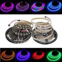 5M 45W 150SMD WS2812B LED RGB Colorful Strip Light Waterproof IP65 White/Black PCB DC5V