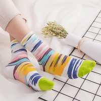 Cotton Striped Athletic Socks Outdoor Good Elastic Tube Sock