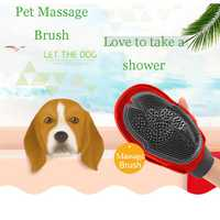 Pet Dog Cat Brush Bath Dog Glove Brush Bath Dog Grooming Hair Brush Massage Comb Washing Brush