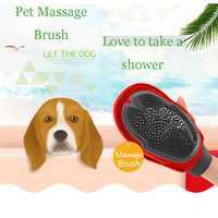 Pet Dog Cat Brush Bath Dog Glove Brush Bath Dog Grooming Hair Brush Massage Comb Washing Brush