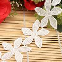 1 Yard White Flower Polyester Embroidery Lace Trim DIY Sewing Needlework Accessoriess