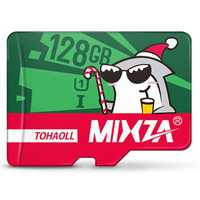 Mixza Christmas Shark Limited Edition 128GB U1 Class 10 TF Micro Memory Card for DSLR Digital Camera TV Box MP3