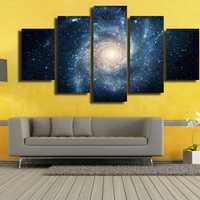 5 Cascade Cosmic Planets Sink Into Rivers Picture Canvas Wall Painting Picture Home Decoration With