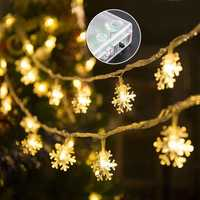 3M 20LED Battery Operated Snowflake Fairy String Light Christmas Wedding Holiday Festival Decor