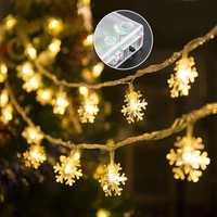 3M 20LED Battery Operated Snowflake Fairy String Light Christmas Wedding Holiday Festival Decor