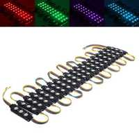 20PCS Black SMD5050 RGB 60 LED Module Strip Light Waterproof Signage Store Front Rigid Bar Lamp DC12V