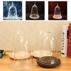 Meilleur prix Glass Display Dome Cloche Flowers Vase Wooden Light Base Home Decor Xmas