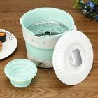 Meilleurs prix Silicone Portable Folding Electric Hot Pot Heated Food Container Cooker Camping