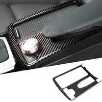 Carbon Fiber Center Water Cup Holder Frame Cover Trim For Benz C Class W204 2008-2013