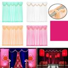 Meilleurs prix Wedding Party Backdrop Curtains Background Decor Draping Removable Swags Decor