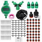 Bon prix 15/25/30/40/50m Drip Hose Water Irrigation System + Auto Timer Greenhouse Plants Kit