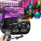 Meilleurs prix 60 Patterns RGB Laser Light DJ Projector LED Stage Effect Lighting Voice Control
