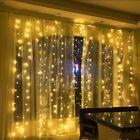 Meilleur prix 6Mx3M AC220V EU Plug LED Curtain String Light Organza Backdrop for Weddings Birthday Party Events Display