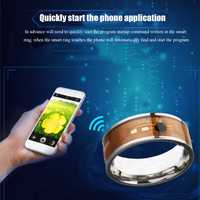 NFC Tag NTAG213 Finger Ring Multifunctional Intelligent Ring Titanium Steel Smart Wear Finger Digital Rings for Men Women