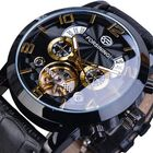 Meilleurs prix Forsining GMT373 Fashion Men Automatic Watch Week Year Genuine Leather Strap Display Mechanical Watch