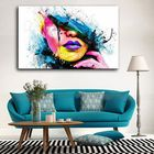 Meilleurs prix Hand Painted Oil Paintings People Modern Stretched On Canvas Wall Art For Home Decoration