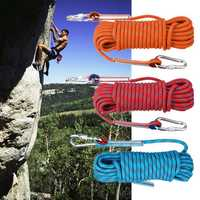 30mx10mm Double Buckle Professional Rock Climbing Rope Outdoor Sports Survival Downhill Safety Rope