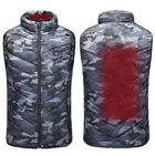 Recommandé USB Heated Waistcoat Camouflage Outdoor Warm Jacket Washable Winter Electric Thermal Heating Sports Hiking Clothing