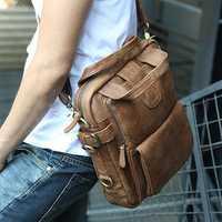 Ekphero Men Casual Crossbody Bag Multifunction Shoulder Bag