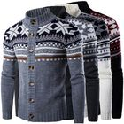 Recommandé Mens Winter Sweater Knitwear Knitted Cardigan Coat Thick Jacket Cardigan Outwear