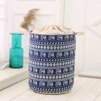 35x45cm Waterproof Durable Cloth Storage Baskets High Capacity Cotton Linen Laundry Box Organizer