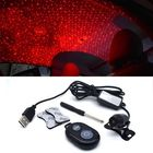 Les plus populaires K8 Rotable Car Interior Atmosphere Meteor Starry Sky Light Roof Ceiling Decoration Light 5V USB Red Laser Projection Lamp with Remote