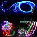 Prix de gros LED Fiber Optic Whip Strip Light 360° RGB Multi-Mode Flashlight Show Music Dance Festival Battery Operated