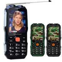 MAFAM D2016 2.8 inch 3000mAh Magical Voice Military Antenna Analog TV Dual Flashlight feature Phone
