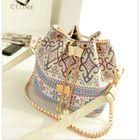 Meilleurs prix Women Stylish Canvas Bucket Bag Shoulder Bag Crossbody Bag