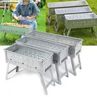 Meilleurs prix Folding BBQ Grill Portable Barbecue Grill Outdoor Traveling Camping Garden Charcoal Stove