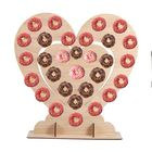 Offres Flash 60x60x2cm MDF Heart Shape Candy Donut Wall Stand Holds Wedding Table Decorations