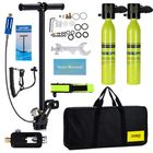 Buy 2 x 0.5L Scuba Oxygen Cylinder Underwater Diving Set Air Oxygen Tank With Adapter & Storage Box Diving Set equipment