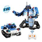 Promotion DOUBLE E CaDA C51048W DIY 2.4G 2 In 1 Block Building Flexible Joint RC Tank Truck Robot Assembled Toy