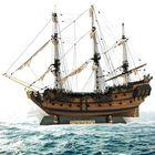 Meilleurs prix 1: 96 Scale 3D Wooden Sailboat Ship Kit Home Model Decoration Sailing Boats Model Xmas DIY