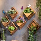 Bon prix Wooden Wall Mounted Hanging Rack Storage Shelf DIY Plant Flower Decoration