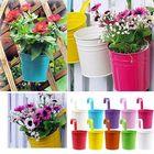 Meilleurs prix 10Pcs Iron Metal Hanging Flower Pot Balcony Plant Garden Planter Home Decorations