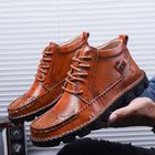 Promotion Genuine Leather Large Size Hand Stitching Soft Boots