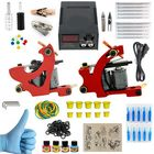 Meilleurs prix Tattoo Equipment Kit 2PCS Tattoo Machine Acessories Set Power Supply Needles Color Material
