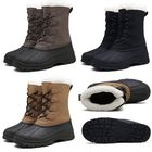 Bon prix Men's Winter Snow Fashion Boots Shoes Casual Lace Up Soft Warm Increased