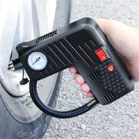 12V Portable Air Tire Inflator Pump LED Safety Hammer Compressor Cordless For Motorcycle Electric Auto Car Bike
