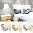 Meilleurs prix 10M 3D Non-woven Wave Stripe Embossed paper Rolls Bedroom Living Room Wall Sticker