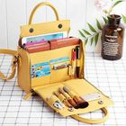 Meilleur prix Brenice Women Solid Cosmetic Handbag Capacity Bag