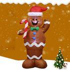 Meilleurs prix 1.5M Inflatable Christmas Santa Claus Gingerbread Snow Man Home Decorations Xmas